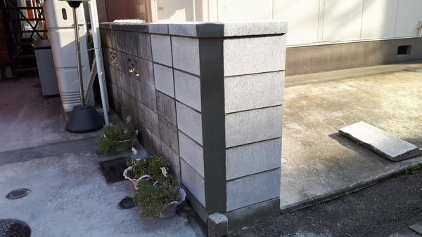 ブロック塀 補修工事
