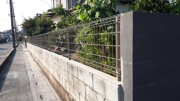 越谷市 蒲生 ブロック解体フェンス工事