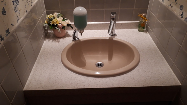 店舗 トイレ 手洗器リフォーム