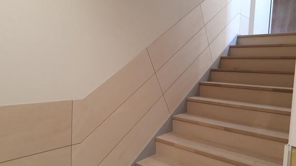 文京区 保育園 階段踏板、腰板工事
