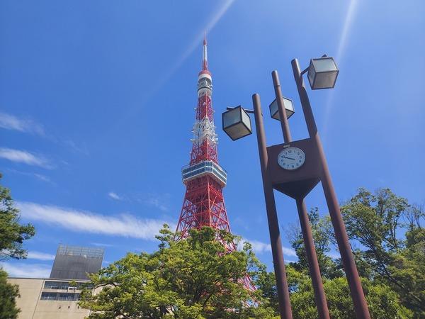 東京タワーの近くにて現場打合せ