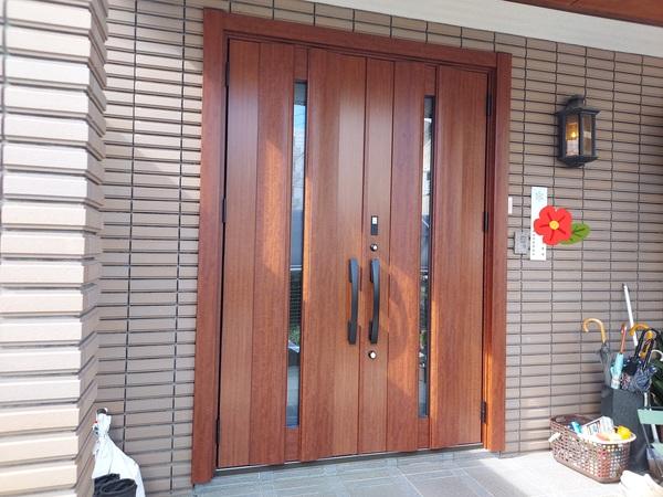 越谷市 蒲生 玄関ドア交換工事